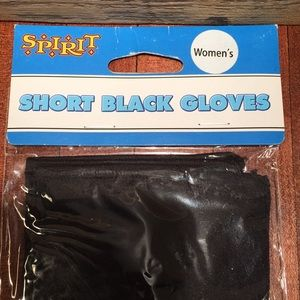 short black gloves adult costume accessories